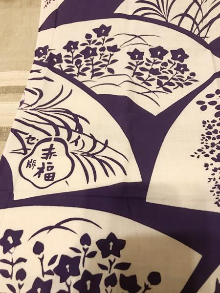 朔日餅包装紙柄のてぬぐい